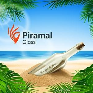 Piramal glass bottle on beach