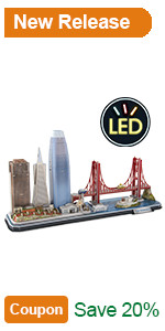 led architecture model building kit 3d puzzle light up at night