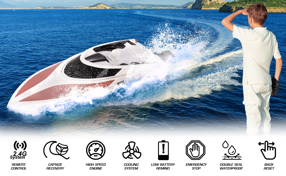 Remote Control Boat - 2.4GHZ - rose gold