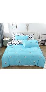 YOU SA Blue Cow Design Duvet Cover Set