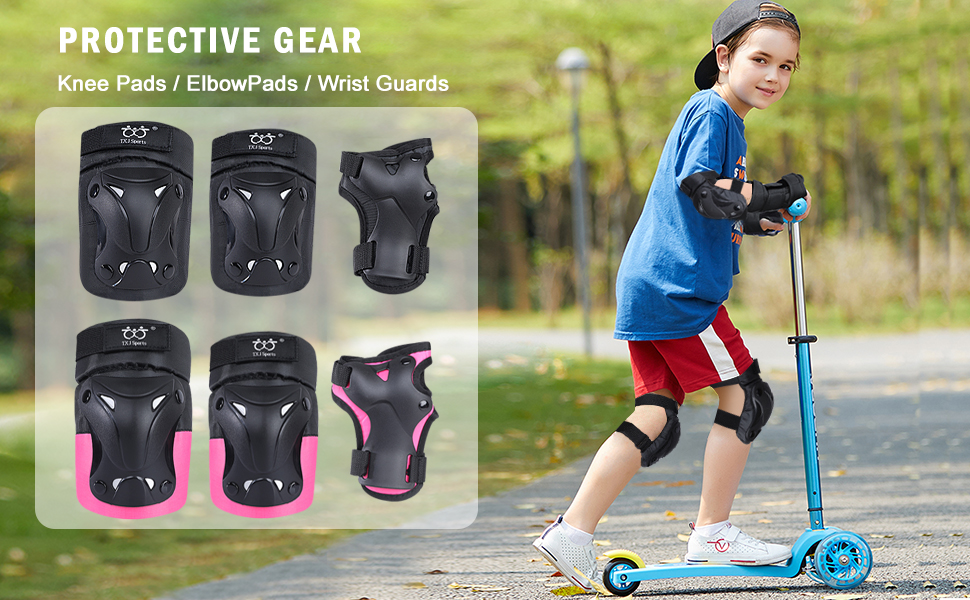 child knee pads and elbow pads set