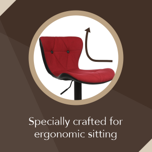 bar stool ergonomic elegant design colorful  contemporary