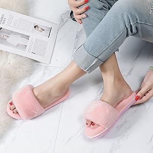 Women Fur slipper