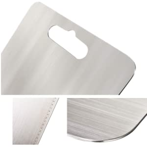 stainless steel 304 Food-Grade chopping cutting slicing mincing serving cut board bord