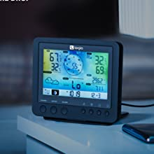Logia dimmable weather station console