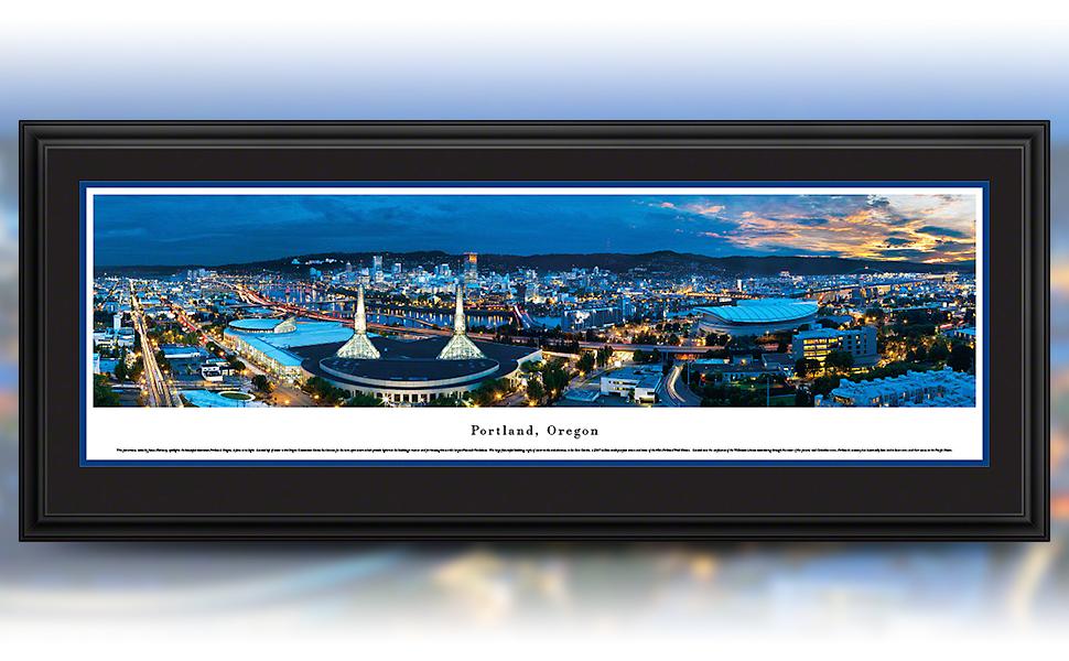 Portland, OR framed panorama