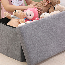 grey ottoman storage box bedroom storage footstool cube kids toy storage poofe footstool folding