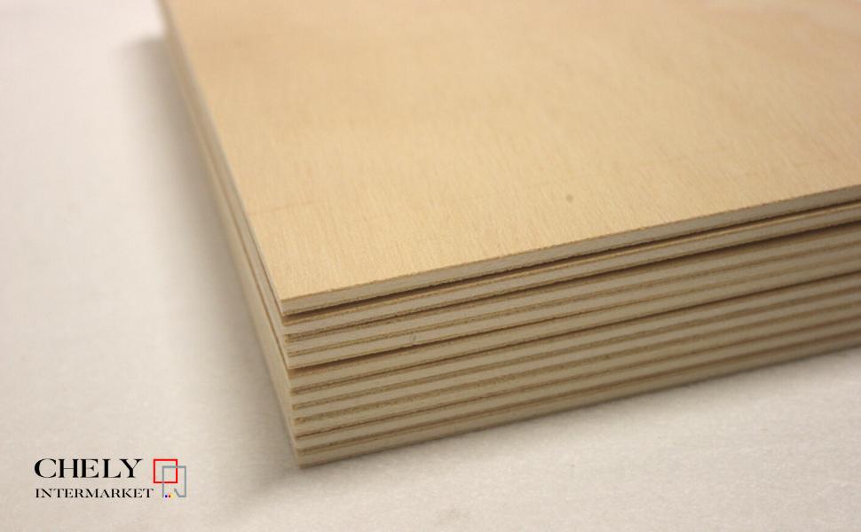 Chely Intermarket tablero madera contrachapado 3mm (A6-10,5 x 14,8 cm)(Set de 30 tableros) Madera Abedul para Bricolaje, Manualidades-Ideal para ...