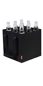 bottle-bag, tasche für flaschen Flaschentasche Flaschen schwarz bag carrier Dosentasche Weintasche B