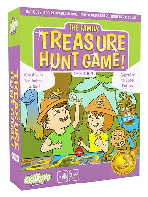 Whats in the Family Treasure Hunt Game Box by GoTrovo