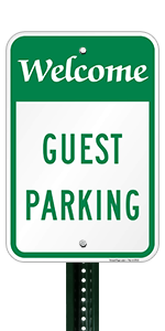 Welcome Guest Parking Security Sign Aluminum METAL Sign