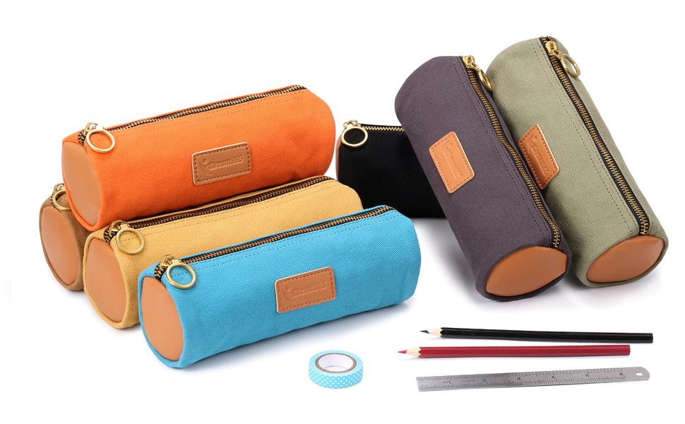 6 colors pencil pouch