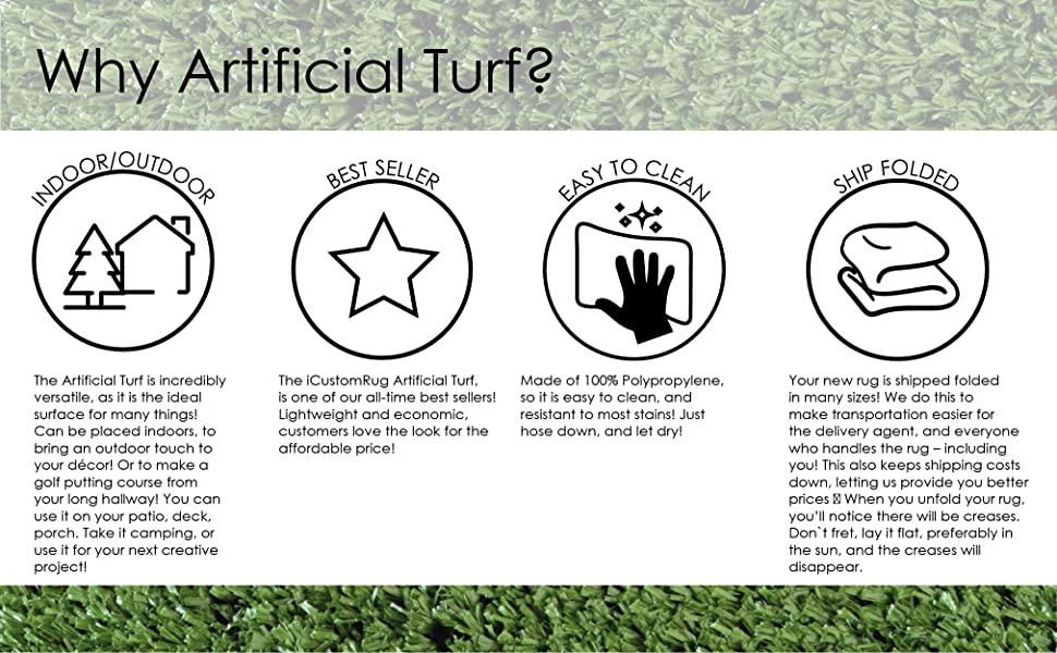 iCustom Rug Icons Artificial Turf