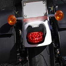 low profile license plate light