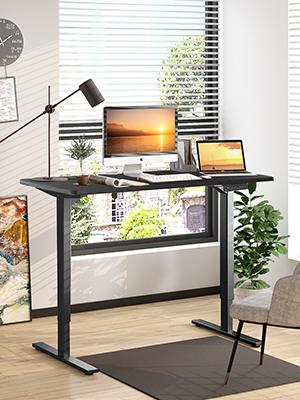 black standing desk