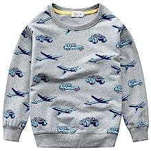 Long Sleeve Tops Green Black Animal Elephant Sweater T-shirt Size 3-8Y Children