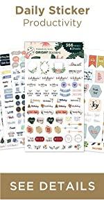 Oriday planner stickers 6 sheets for bullet journal