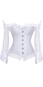 Corset Tops for Women with Sleeves Bustier