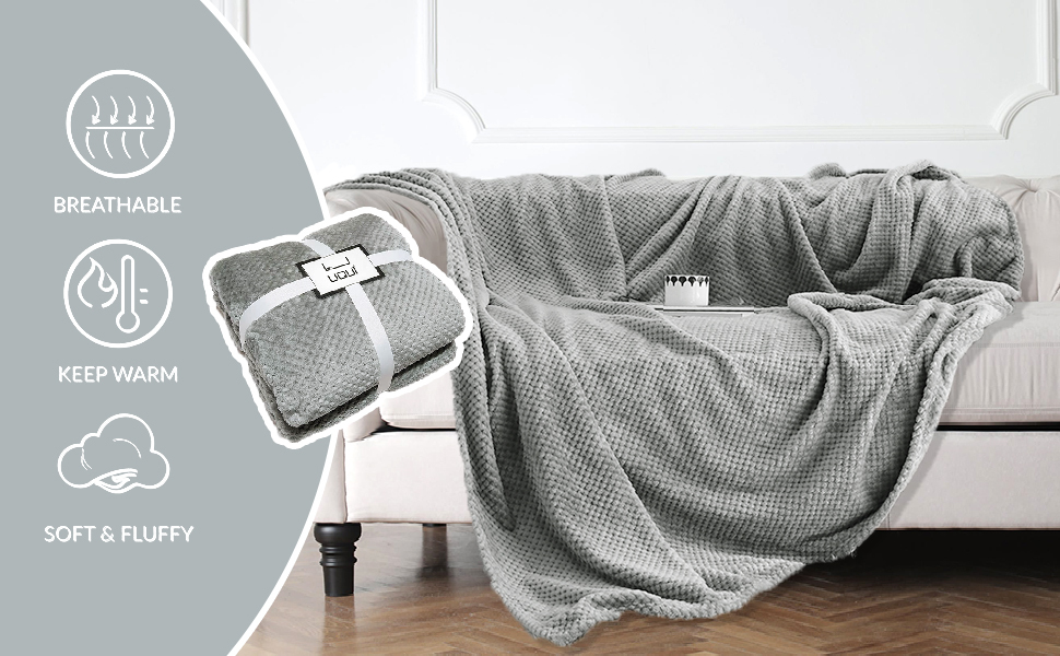 Luxury Flannel Fleece Throw Blanket…