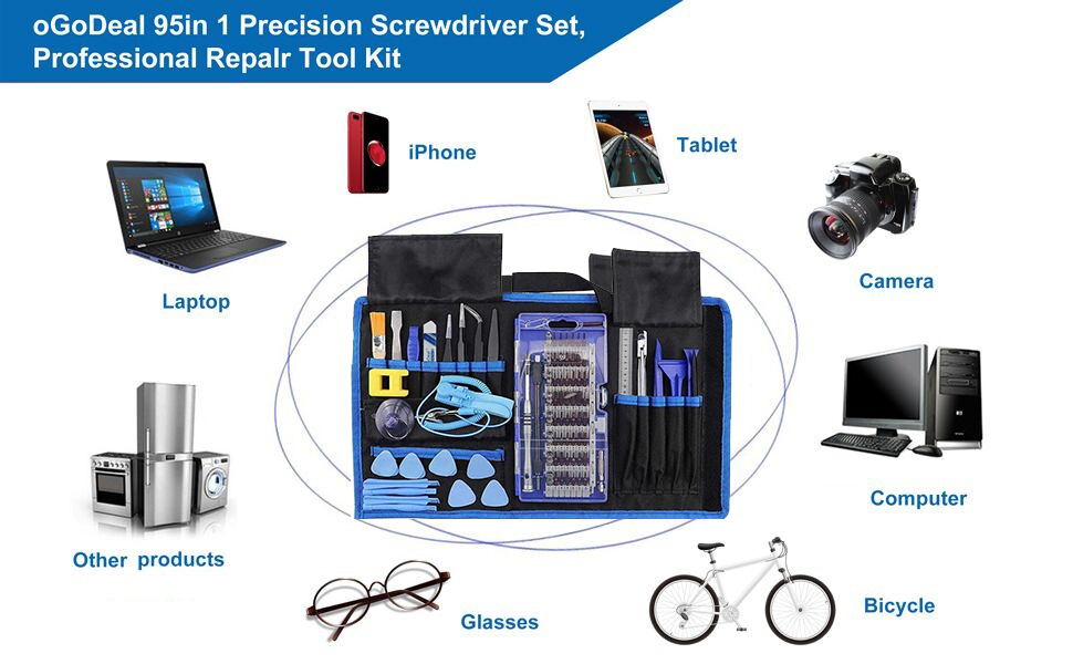 Screwdriver Set for iPad,iPhone,PC,Watched,Glasses,Laptops,Phones,Game Consoles and so on.