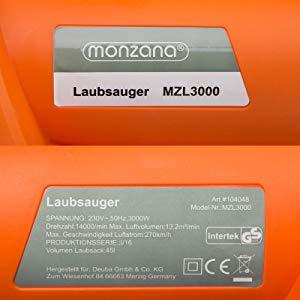 Monzana 3en1 soplador aspirador y trituradora de jardín máx 3000W ...