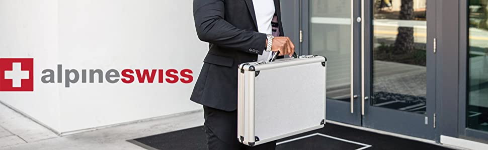 professional attache hard sided briefcase