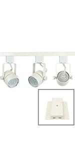 50154L-330KIT 3-Light White 3K Track Lighting Kit Warm White