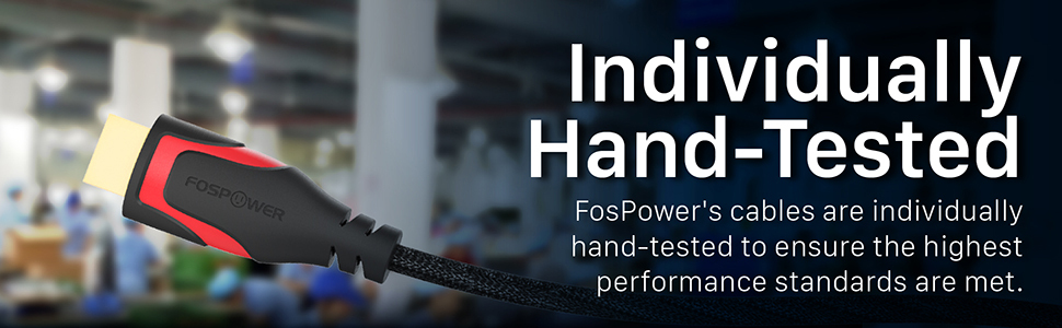 Fospower 30AWG Nylon Braided High Speed HDMI Cable