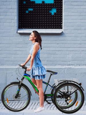 Adult Tricycle Three Wheel Trike Bike 7 Speed