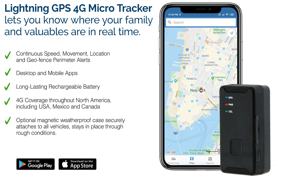Lightning GPS 4G Micro Tracker with Case
