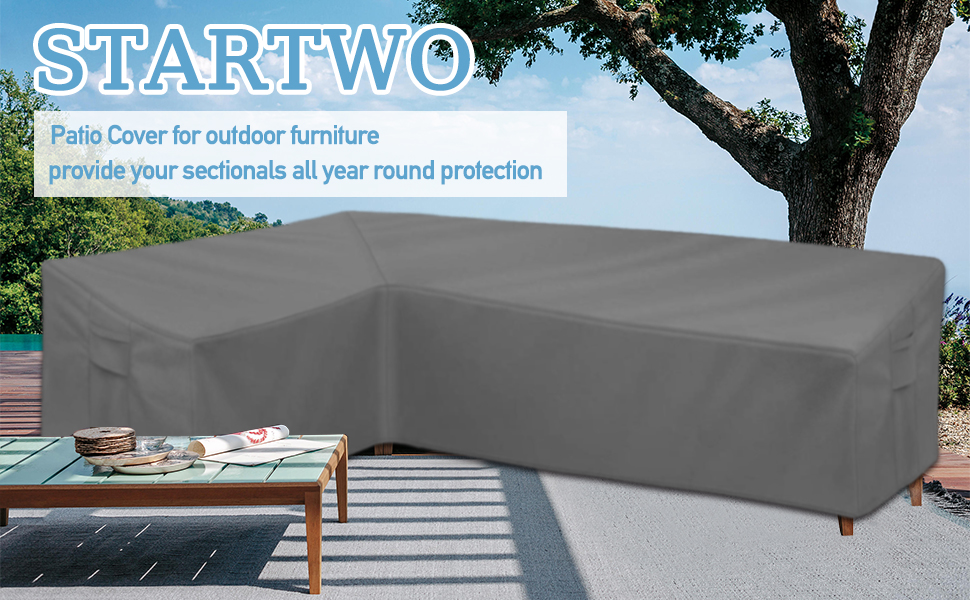Outdoor patio sectional furniture cover