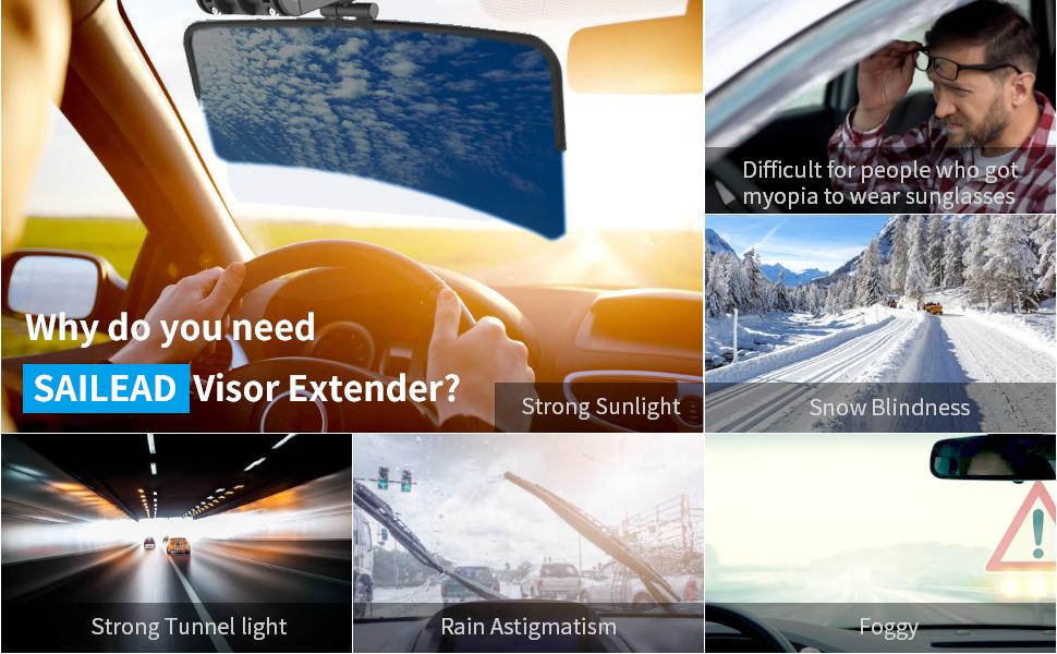 sun visor tac extender car polarized blocker extension