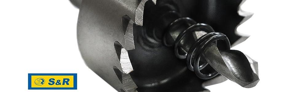 S&R-gatzaagset 16-18,5-20 - 25-30mm HSS COBALT, kobalt gelegeerd