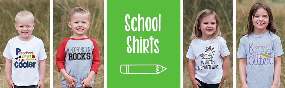 7 ate 9 Apparel School Shirts