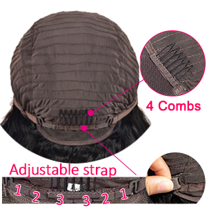 4 combs at front back two sides