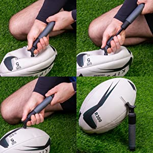 rugby-pomp, voetbalpomp, voetbalpomp, ventiel, pompnaald, bal pomp, balpomp, voetbal pomp