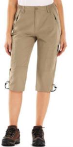 Womens quick dry hiking cargo shorts
