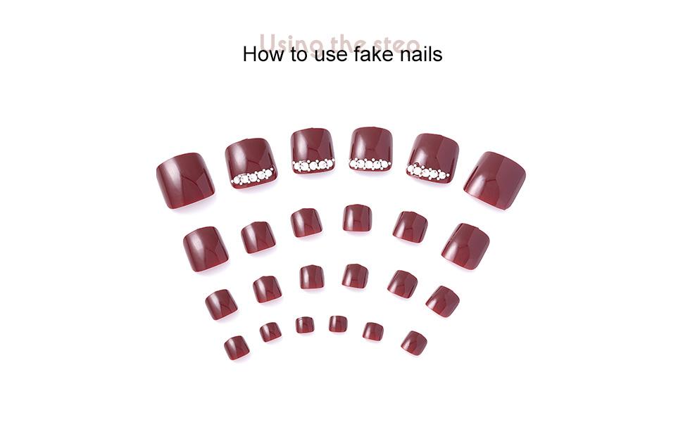 Fake toe nails