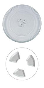 Mikrowellenteller Teller Drehteller Glasteller 315mm mit 3 Noppen