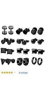 surgical steel 18 gauge earrings surgical steel earrings surgical steel earrings black