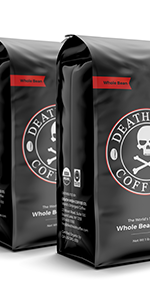 Death Wish's dark roast whole bean is the world's strongest coffee, perfect for caffeine lovers