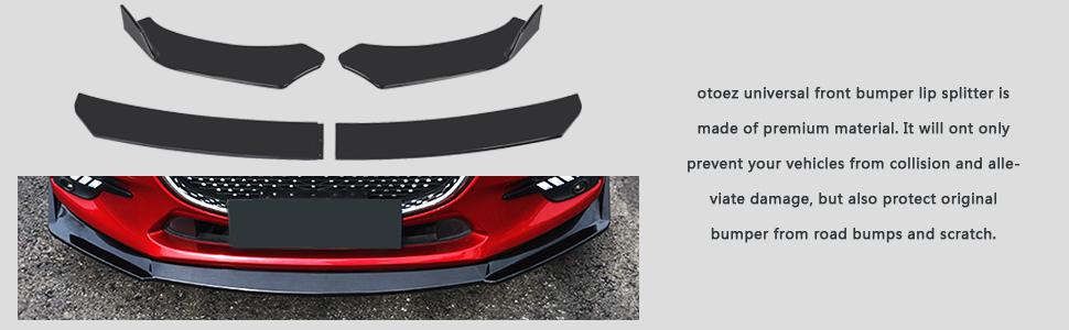 Universal Front Splitter Front Bumper Lip Chin Spoiler Protector Lip Flat Splitter Air Dam