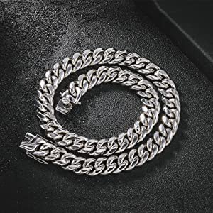 Men Thick 316L Stainless Steel Curb Cuba Chain