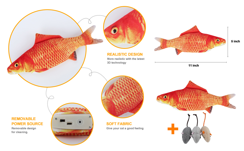 flopping fish cat toys for indoor cats