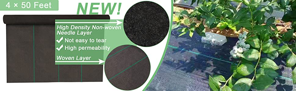 Where new? High Density Non-woven Needle Layer and Woven Layer, durable and High permeability.