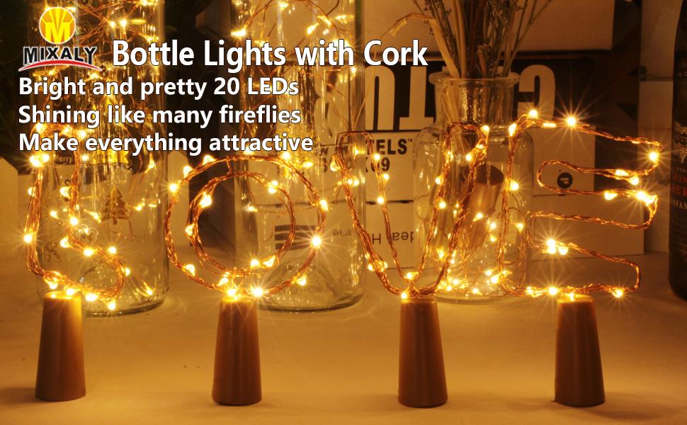 Copper Wire Cork Lights