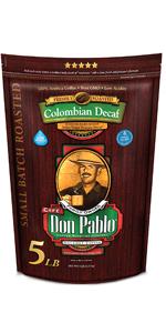 5 lb Don Pablo Colombain Decaf