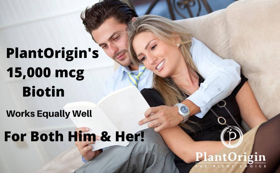 PlantOrigin Biotin for men and Women