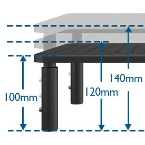 BONTEC Soporte de Monitor PC Ergonómico Levandator de Soporte para Ordenador Portátil de Metal de Calidad Altura Ajustable para Ordenador Portátil, Computadora, iMac, PC, Impresora de hasta 20 kg: Amazon.es: Electrónica