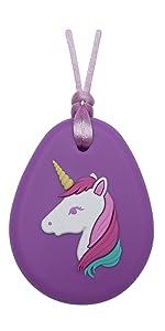 Munchables Unicorn Sensory Chew Necklace for Girls
